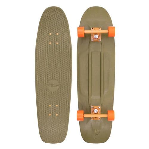 Penny Burnt Olive 32 Complete Cruiser Skateboard Green/Orange 32 IN