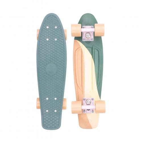 Penny Swirl 27 Complete Cruiser Skateboard Green/Yellow 27 IN