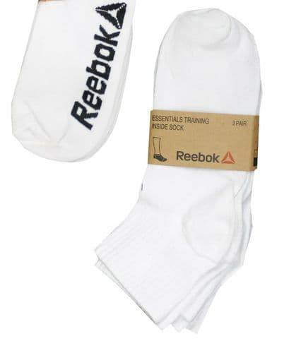 Reebok Crossfit Training Sports Ankle Socks White Blk 3 Pair Pack