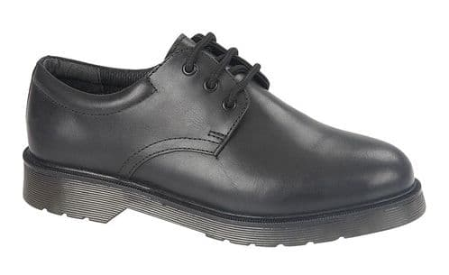 Roamers  Gibson Back To School Junior Boys Leather Shoes Black