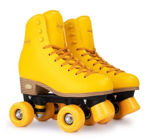 Rookie Classic 78 Quads Kids & Adults Rollerskates Yellow Boots