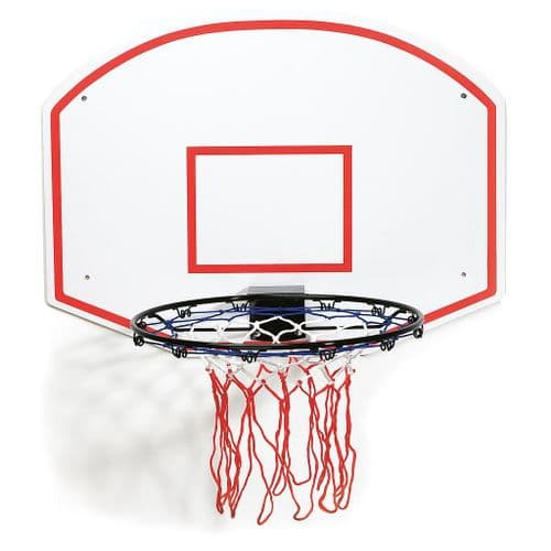 Slam Dunk Plain Basketball Ring & Backboard