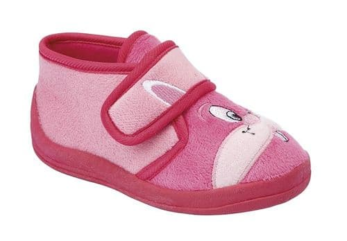 Sleepers Hoppy Baby Infants Toddler Girls Touch Fasten Bootee Slipper Shoes Pink