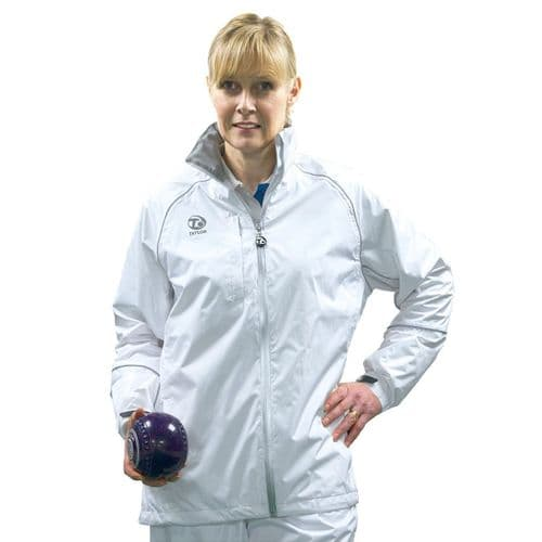 Taylor Bowls Superstorm Waterproof Womens Jacket White Grey