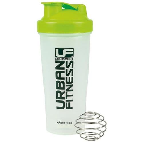 Urban Fitness Protein Shaker 700ml - Clear/Green