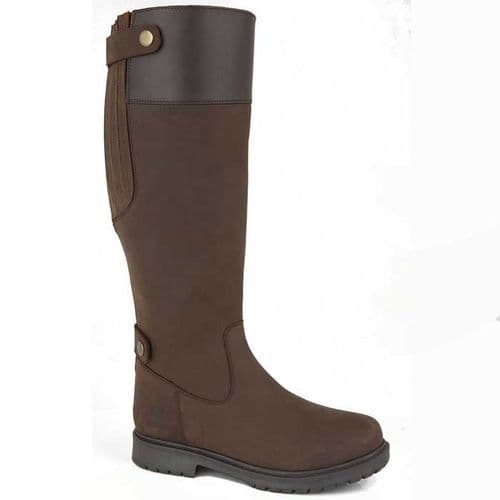 Woodland Harper Womens Equestrian Country Boots Dark Brown Waxy Leather