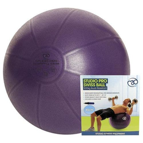 Yoga-Mad 500kg Fitness Swiss Ball & Pump