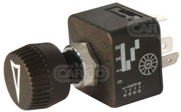 12 VOLT 4 POSITION OFF-ON-ON-ON ROTARY HEADLIGHT HEATER SWITCH 5 TERMINAL 180158