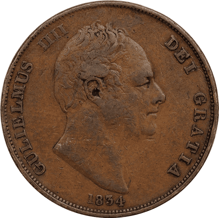1830-1837 William IV Copper Penny