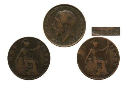 1912 Pennies Coins from the Titanic Year