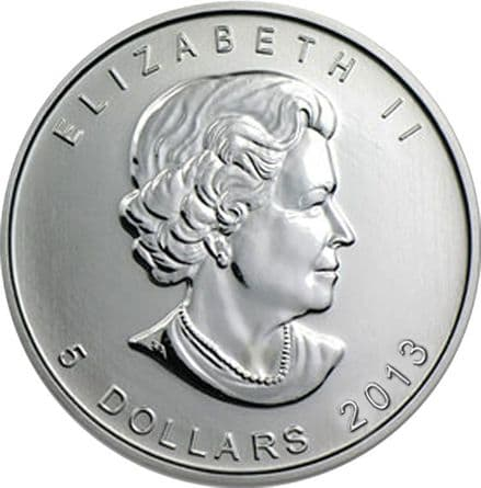 2013 Silver 1oz Canadian Maple