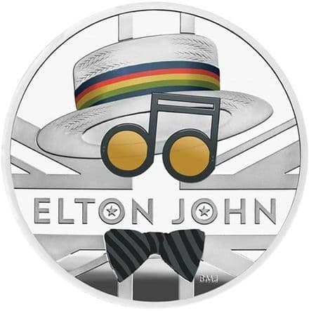 2020 Elton John 1oz Colour Silver £2 coin