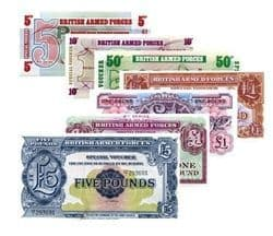 British Armed Forces Banknotes released by the Ministry of Defence