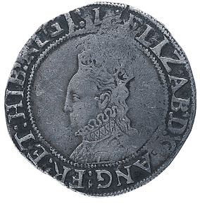 Elizabeth I Shilling 1558-1603 in Fine Condition