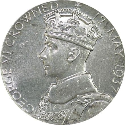 George VI and Elizabeth Silver Star Medallion 1937
