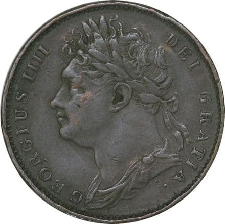 King George IV Copper Farthing 1821 - 1826