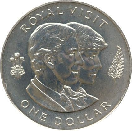 New Zealand 1983 One Dollar Royal Visit Commemorative
