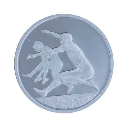 Silver Proof Coin 2004 Greek Olympics - Long Jump