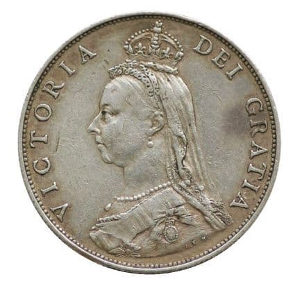 Victoria Jubilee Head Silver Florin coin 1887-1892