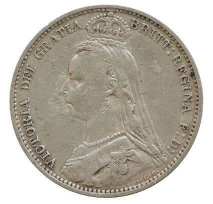 Victoria Jubilee Head Sixpence coin 1887-1893