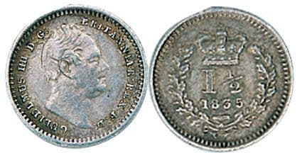 William IV Silver Three Halfpenny 1834-1837