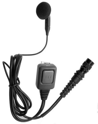 Earbud with microphone and PTT