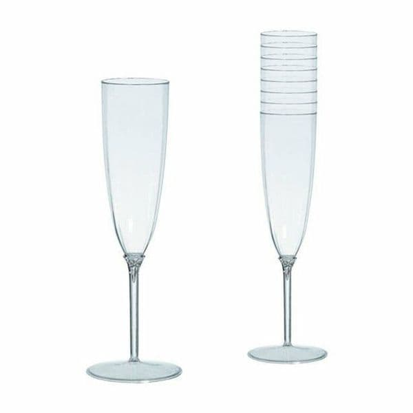 Clear Plastic Champagne Flutes - 142ml