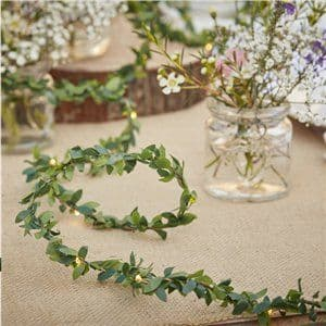 Rustic Country Foilage String Lights - 3m
