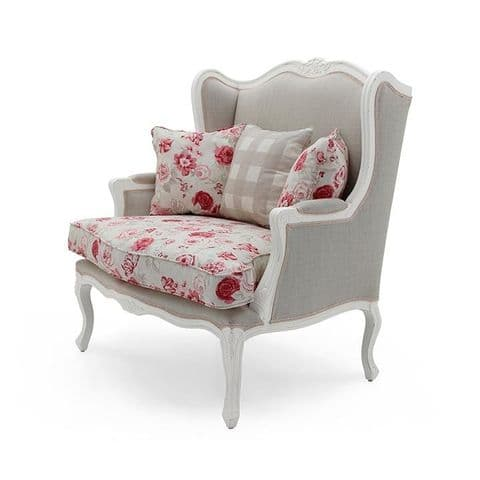 Aimee Bespoke Upholstered French Snuggle Chair MS9896P Custom Made-To-Order