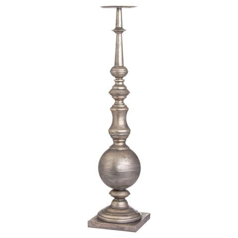 Antique Silver Tall 75cm Decorative Candle Stick Holder MH20285