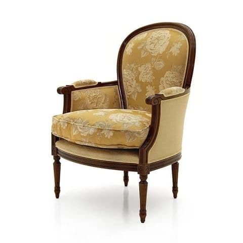 Arrotondato Bespoke Upholstered French Armchair MS9248P Custom Made-To-Order