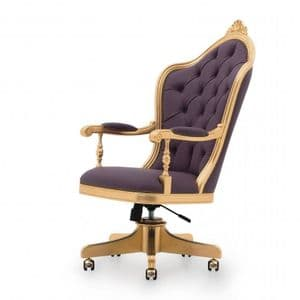 Baroque Desk Chair Bespoke Upholstered MS0360P Custom Made-To-Order