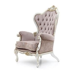 Bespoke Upholstered Baroque Armchair MS9191P Custom Made-To-Order