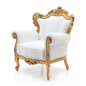 Bespoke Upholstered Rococo Armchair MS9102P Custom Made-To-Order