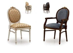 Casa Savoia Bespoke Upholstered Stackable Dining Chairs MS0653 Custom Made-To-Order