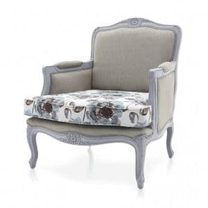 Chalet French Country Bespoke Upholstered Armchair MS9144P Custom Made-To-Order