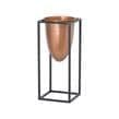 Contemporary Copper Bullet Vase Medium Planter In Metal Frame MH19507