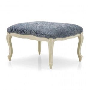 Duello Bespoke Upholstered Ottoman Footstool MS0465O Custom Made-To-Order