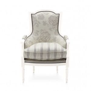 Eclettico Bespoke Upholstered French Armchair MS9490P Custom Made-To-Order