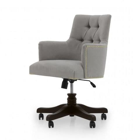 Edoardo Bespoke Upholstered Italian Designer Desk Chair With Arms MS0810A Custom Made-To-Order