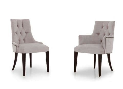 Edoardo Bespoke Upholstered Italian Dining Chairs MS0410 Custom Made-To-Order