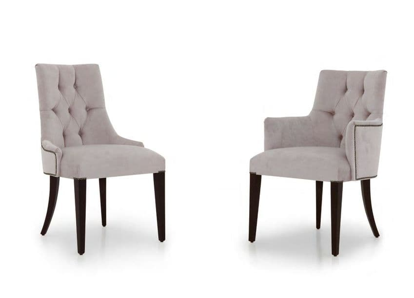 Bespoke Upholstered Italian Dining Chairs MS0410 Custom chairs Made-To-Order Dining Chairs for dining room tables & chairs for kitchen chairs with matching carvers