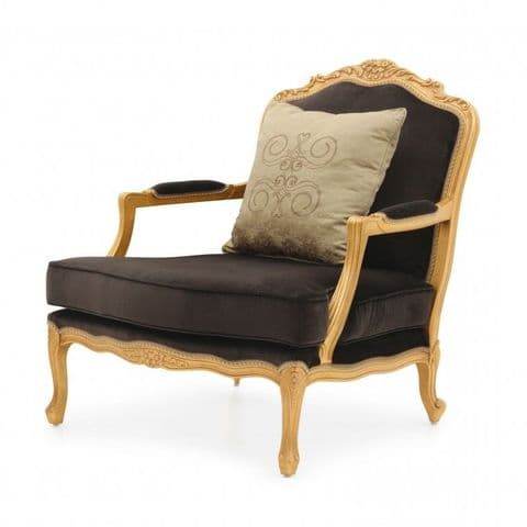 Fauteuil Bespoke Upholstered French Armchair MS9437P Custom Made-To-Order