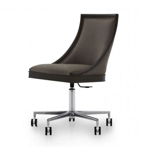 Figarova Bespoke Upholstered Italian Designer Desk Chair MS0634S Custom Made-To-Order