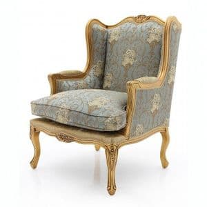 Francais Wingback Bergere Bespoke Upholstered Armchair MS9796P Custom Made-To-Order