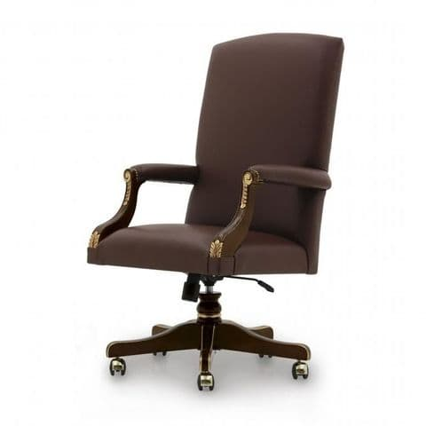 Gainsborough Desk Chair Bespoke Upholstered MS0357P Custom Made-To-Order