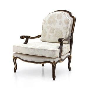 Grazia Bespoke Upholstered French Fauteuil Armchair MS9302P Custom Made-To-Order