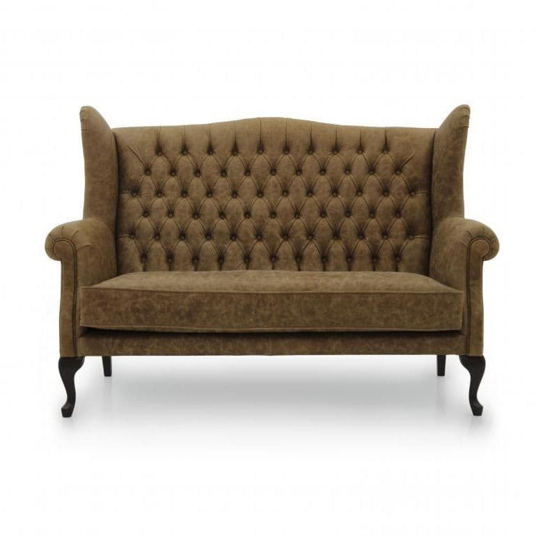 High Wingback English Chesterfield Two Seater Sofa MS9596D Made-To-Order