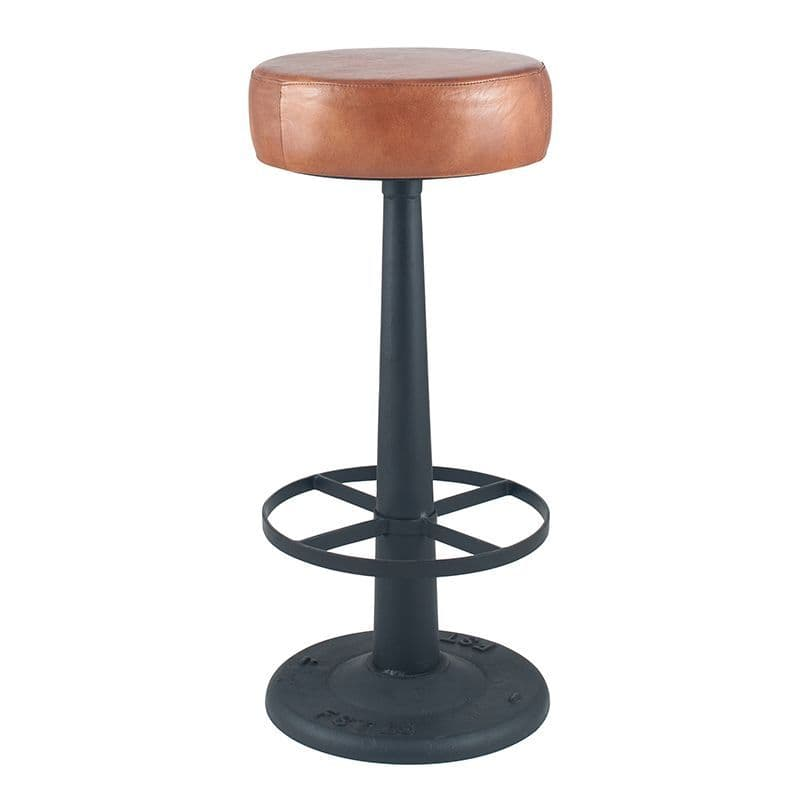 Industrial Bar Stool with metal legs MP15-274-VB Barstools bar chairs upholstered black grey leather bar stools with leather seat & back kitchen stools Contemporary Bar Stool