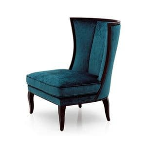 Italiano Bespoke Upholstered Minimalist Wingback Barrel Chair MS09471P Custom Made-To-Order